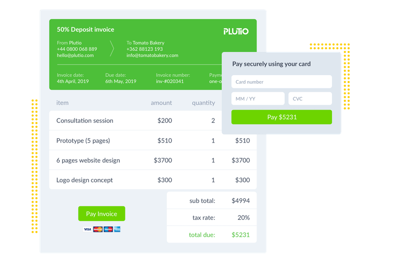 Plutio Invoice and Payment Screenshot
