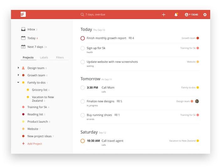 Todoist Review Screenshot