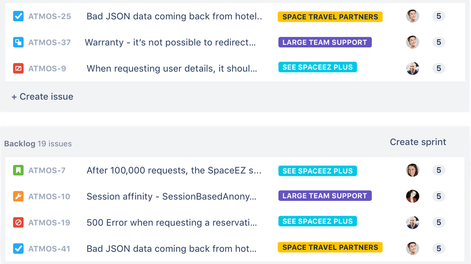 Jira Issue-Tracking Feature Screenshot