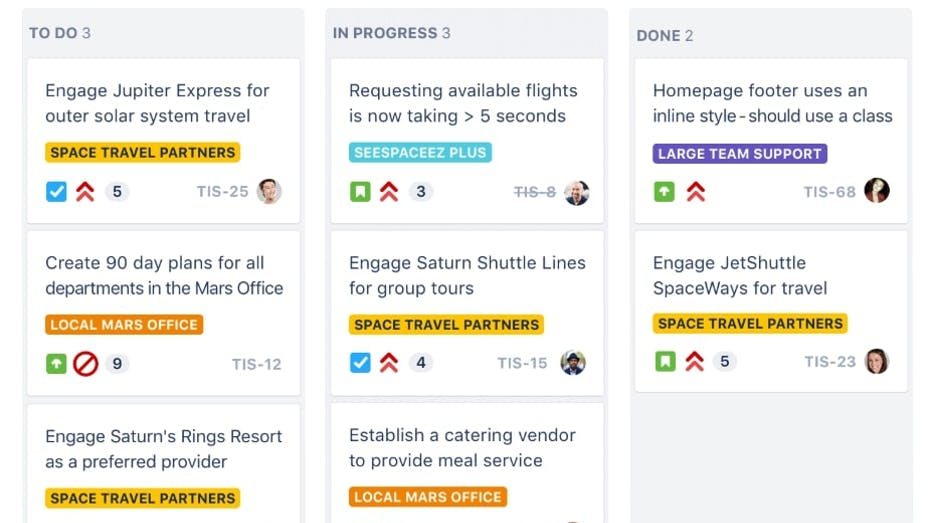 Jira Scrum Boards Screenshot