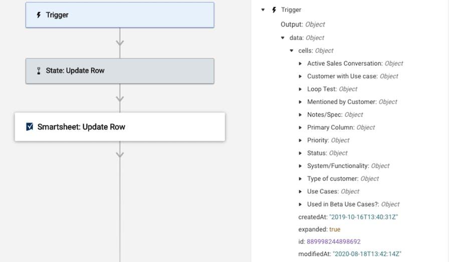 Smartsheet Workflow Automation Feature Screenshot