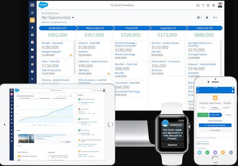 Salesforce Screenshot Lead Management