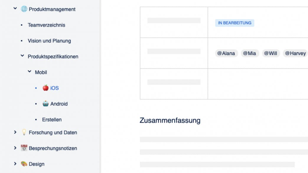 Confluence Test Interface Beispiel