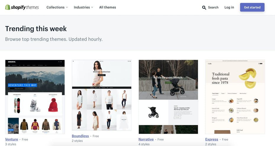 Shopify Template Collection Screenshot