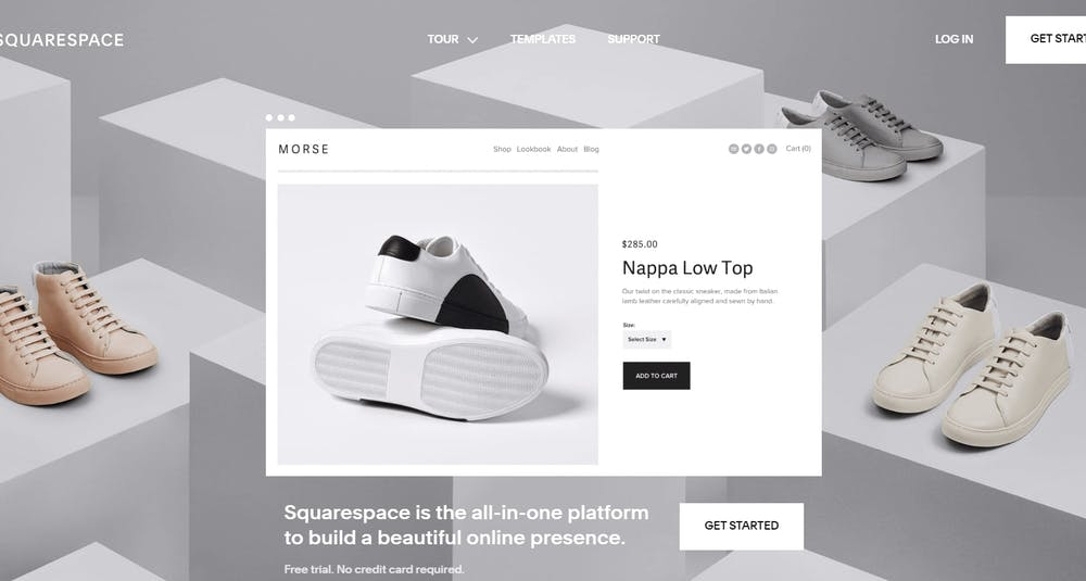 Squarespace Product Management Screenshot